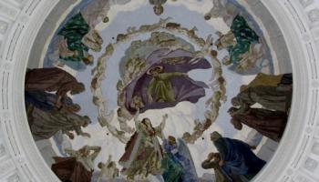 St.-Blasien: Dom, Kuppelfresko Maria Himmelfahrt