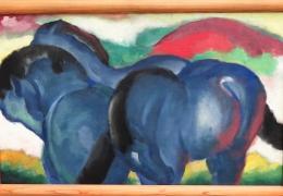 IMG_1385 Franz Marc - Die kleinen blauen Pferde (1911)
